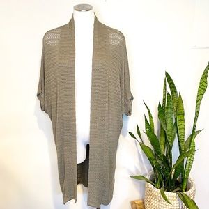 Moth | Open Front Duster Cardigan Sz. M